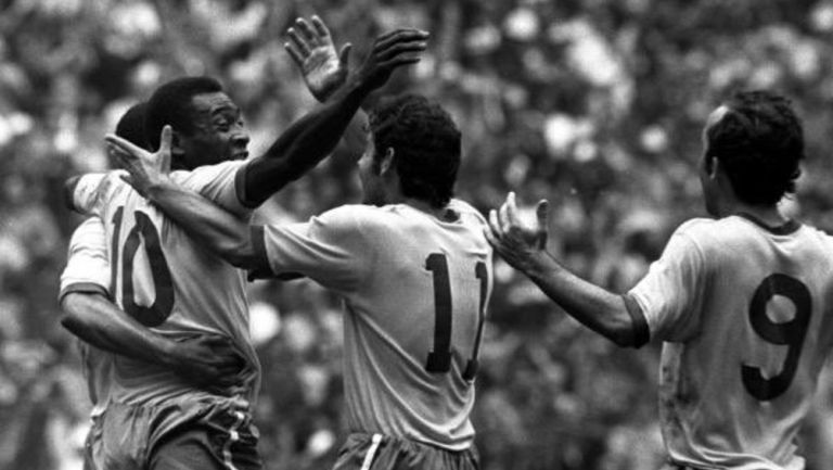 Pelé cebra con sus compañeros de equipo