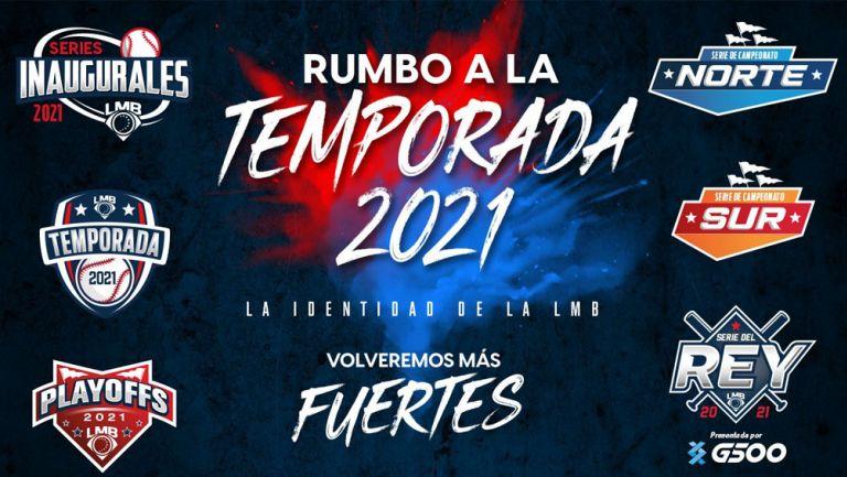 Logos que acompañarán a la LMB en la temporada 2021