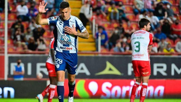 Mauro Quiroga no festejó su gol ante Necaxa