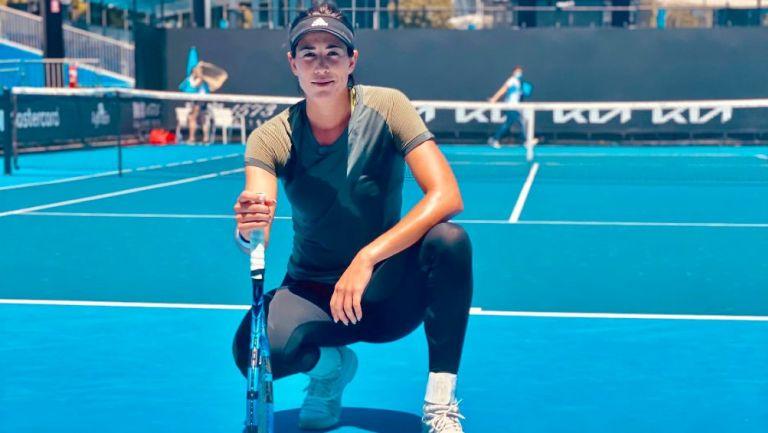 Garbiñe Muguruza en el Abierto de Australia 2021