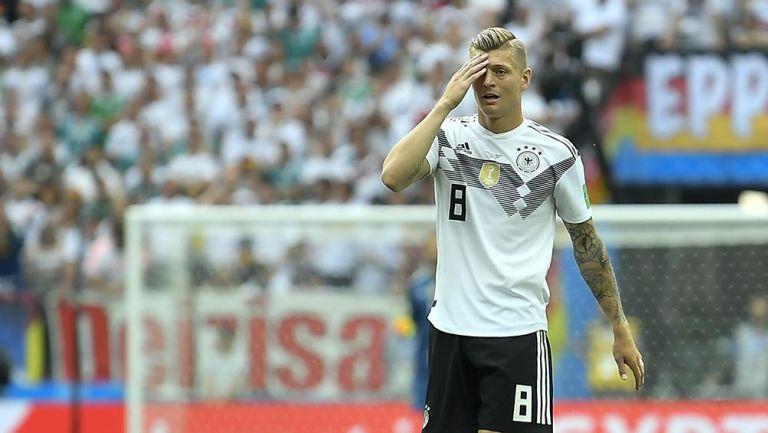Toni Kroos en un partido con Alemania