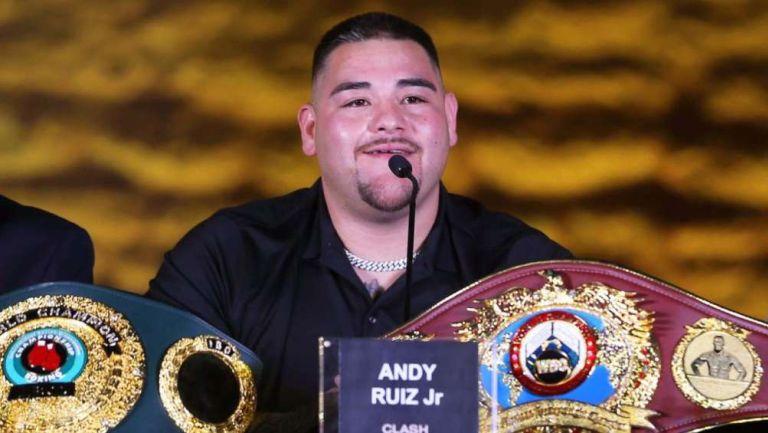 Andy Ruiz en conferencia prensa