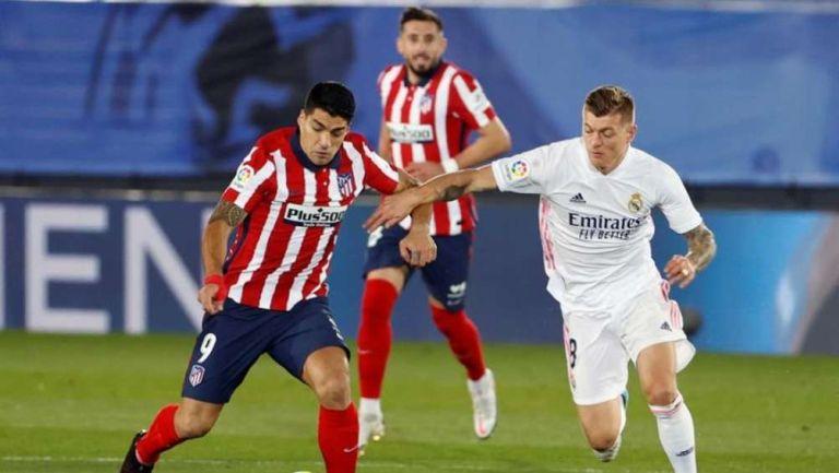 Atlético de Madrid en festejo de gol