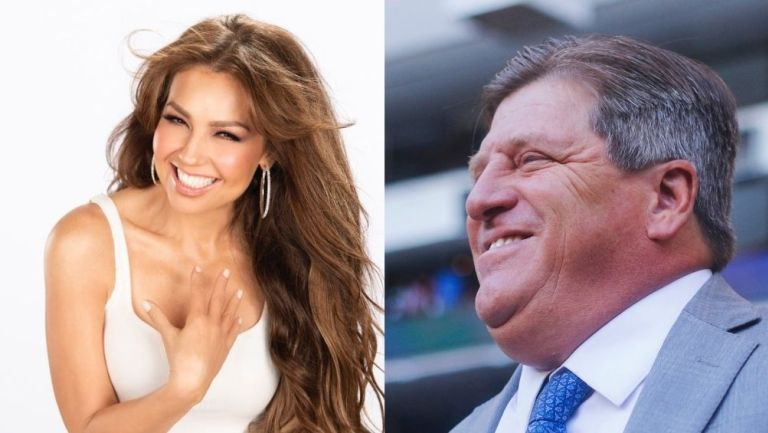 Thalía y Miguel Herrera