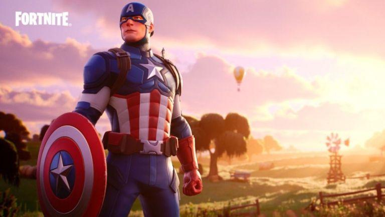 Ant-Man se encuentra en el hombro del Capitán América