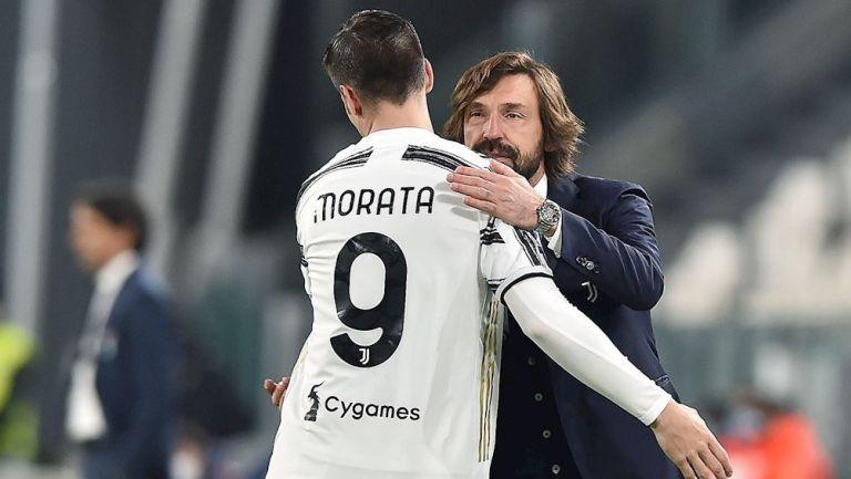 Pirlo y Morata en victoria vs Lazio