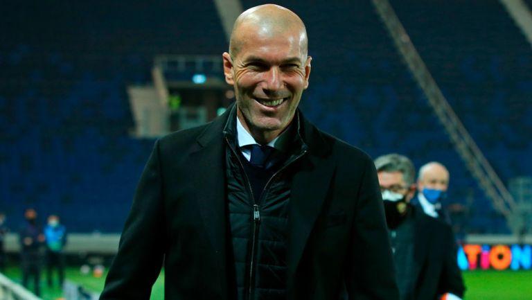 Zinedine Zidane tras un duelo del Real Madrid