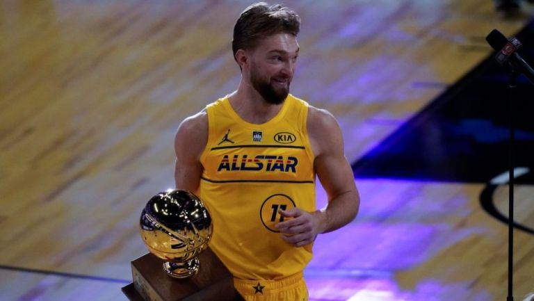 Domantas Sabonis tras ganar el Concurso de Habilidades de la NBA