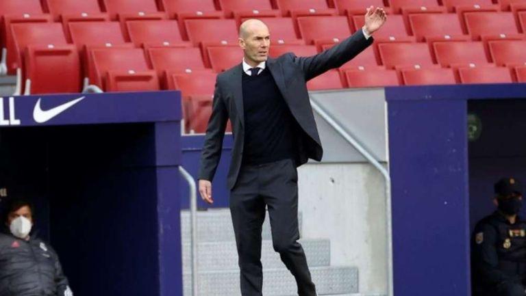 Zidane en partido con Real Madrid