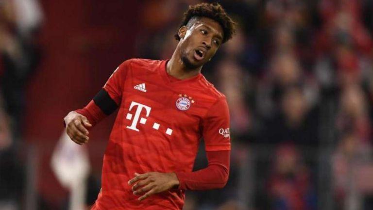 Coman en partido con Bayern