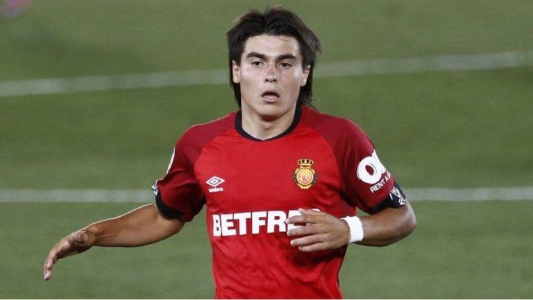 Luka Romero en un partido con Mallorca