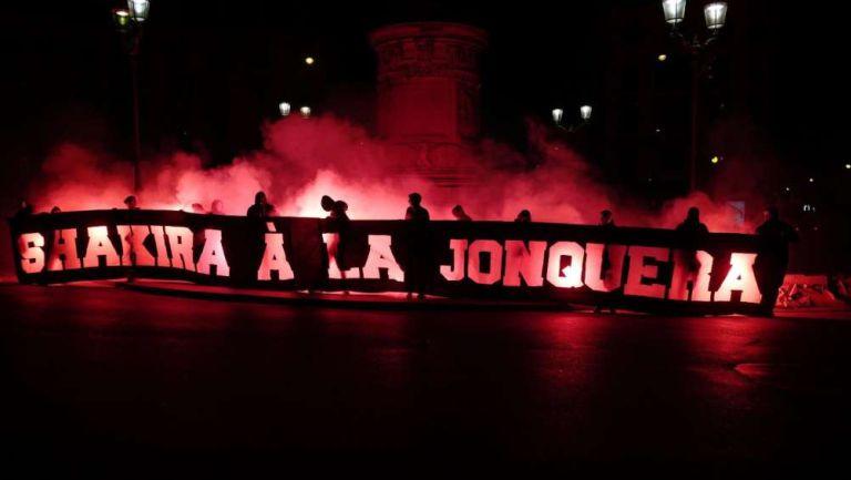 Pancarta misógina contra Shakira