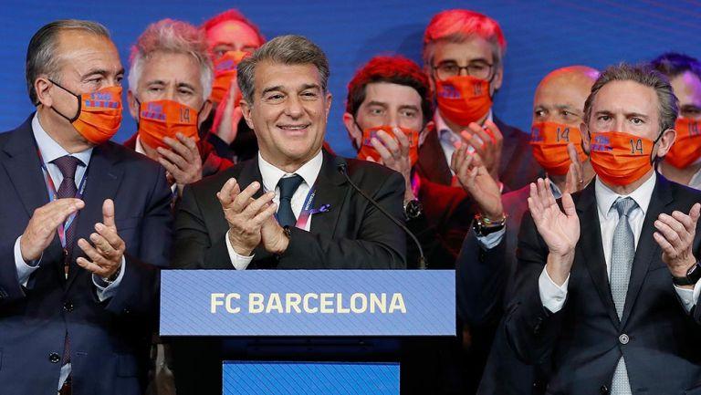 Laporta: 'Messi me felicitó y pronto tendremos una conversación tranquila'