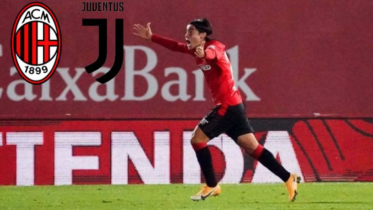 Luka Romero durante un partido con el Mallorca