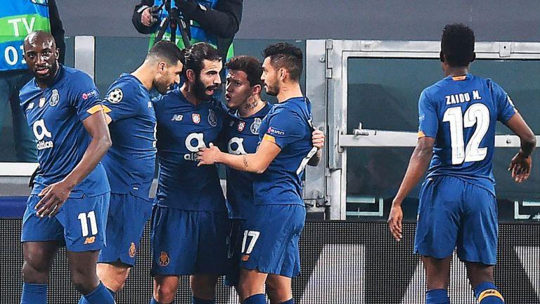 Porto festejan una anotación ante la Juve
