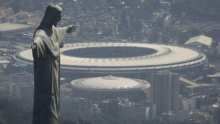 Una vista lejana del Estadio Maracaná