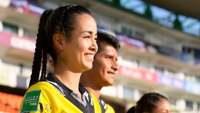 Katia García durante un partido de la Liga MX Femenil