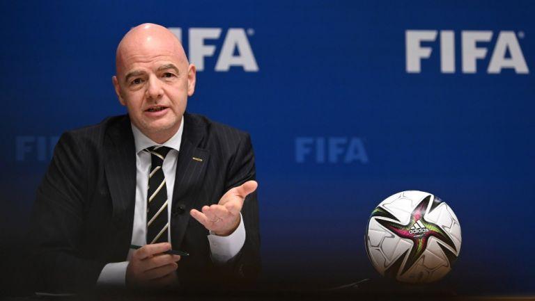 Gianni Infantino, presidente de la FIFA en el congreso de la ONU