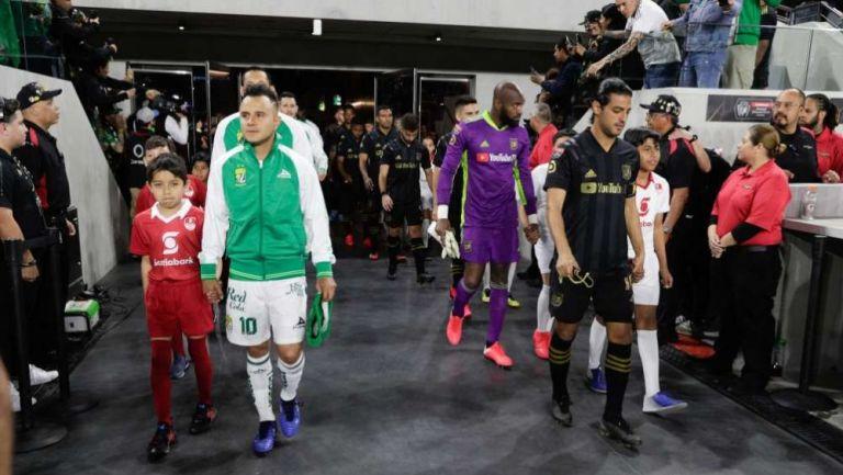León y LAFC previo a su enfrentamiento de Concachampions