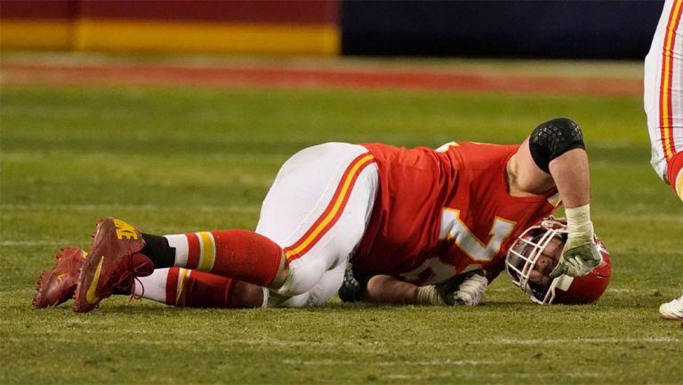 Eric Fisher tras sufrir una lesión con los Chiefs