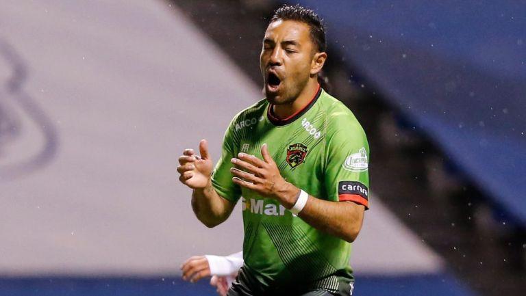 Marco Fabián en lamento con Juárez