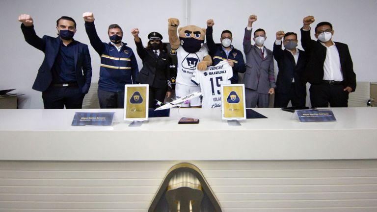 La oficialización de la alianza entre Pumas y Volaris