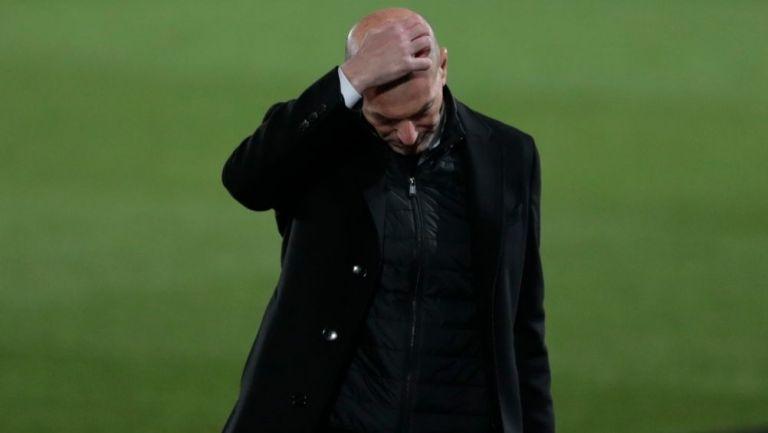 Zidane en un partido del Real Madrid