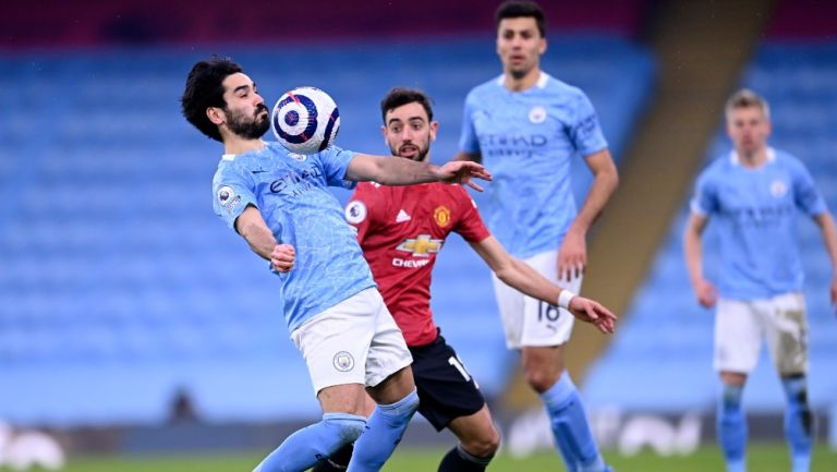Ilkay Gündogan en acción con el Manchester City
