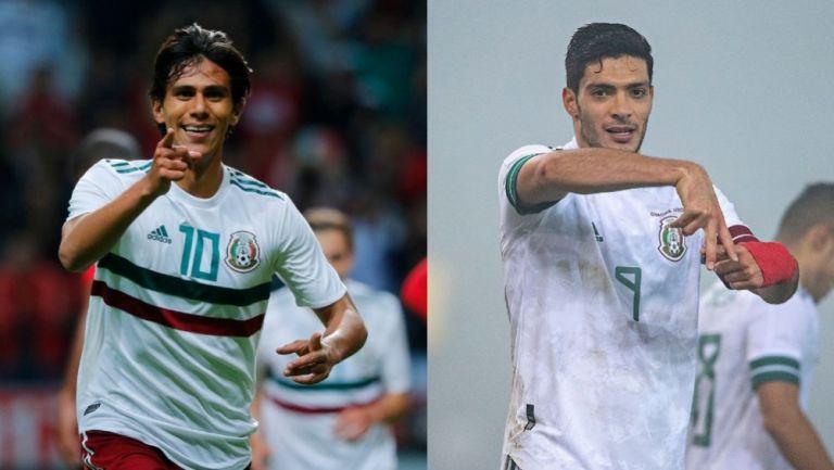 Macías y Jiménez con la Selección Mexicana