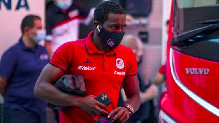 Anderson Julio previo a un partido con el Atlético San Luis