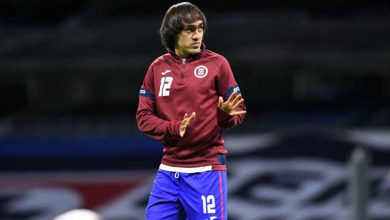 Shaggy Martínez en partido con Cruz Azul
