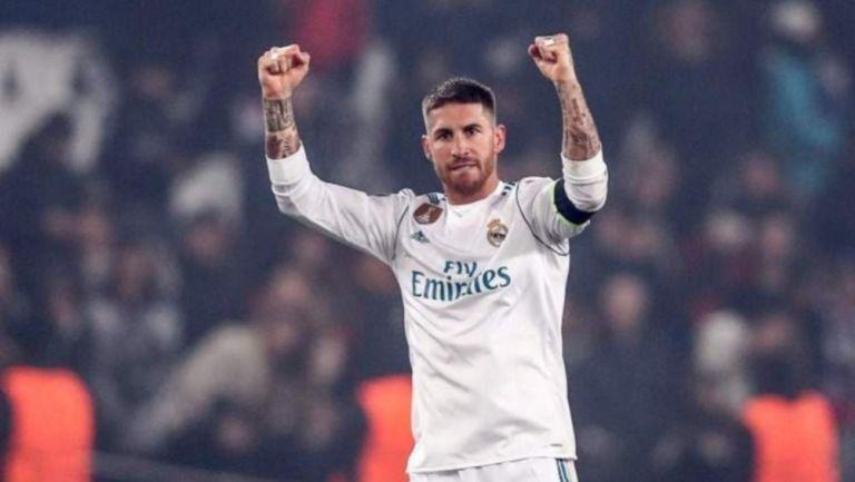Sergio Ramos en festejo de gol