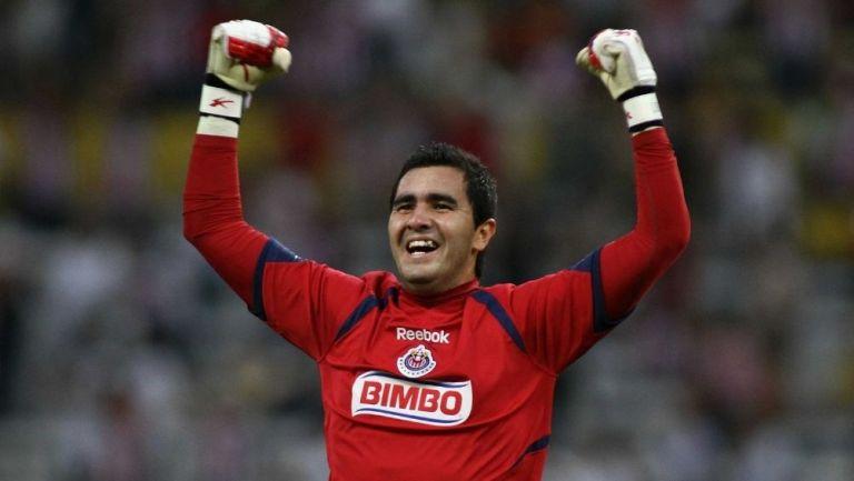 Liborio Sánchez durante su paso por las Chivas