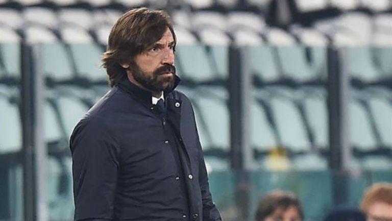 Andrea Pirlo en el partido con la Juventus