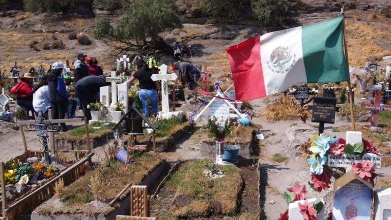 Un panteón en México durante la pandemia