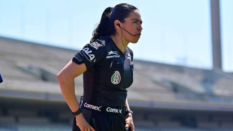 Karen Janett Díaz en partido