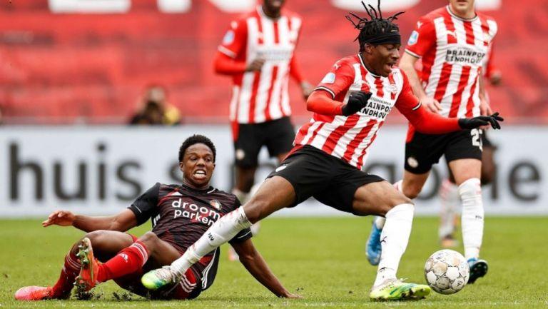 PSV y el Feyenoord empataron a un gol en la Eredivisie