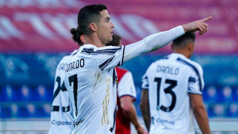 Cristiano Ronaldo celebrando un gol con la Juventus