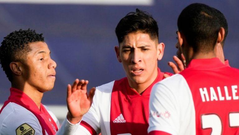 Edson Álvarez en la victoria del Ajax sobre el Zwolle