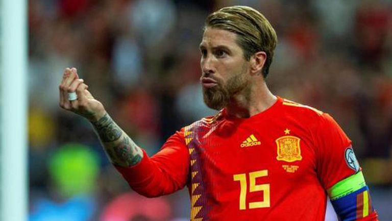 Sergio Ramos, en juego con la 'Roja'