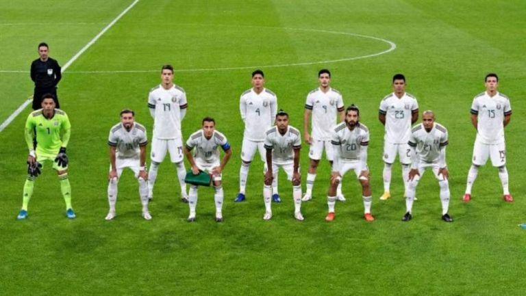 Selección Mexicana previo a un partido amistoso