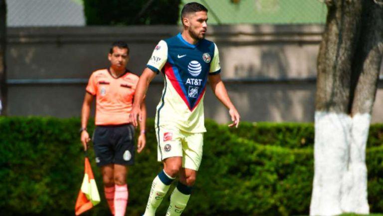 Bruno Valdez en partido con América