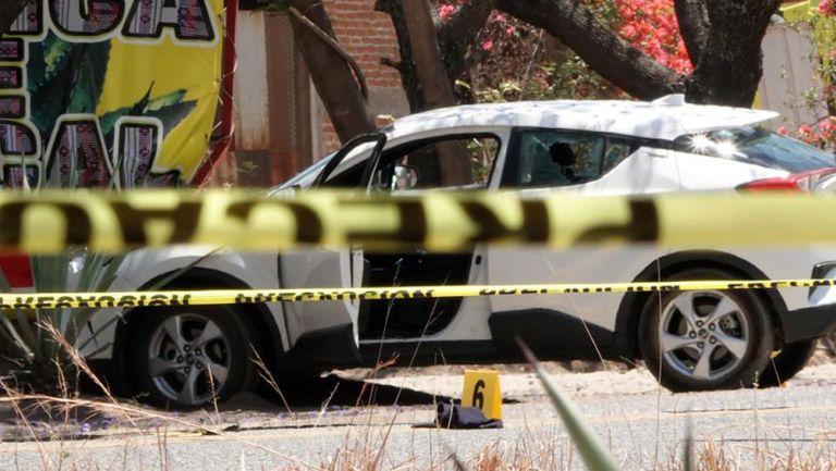Vehículo donde fue asesinada Ivonne Gallegos