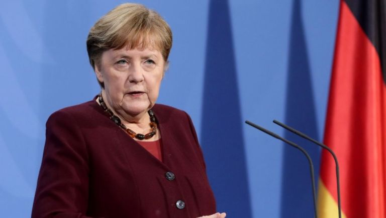 Angela Merkel, canciller de Alemania, en conferencia de prensa