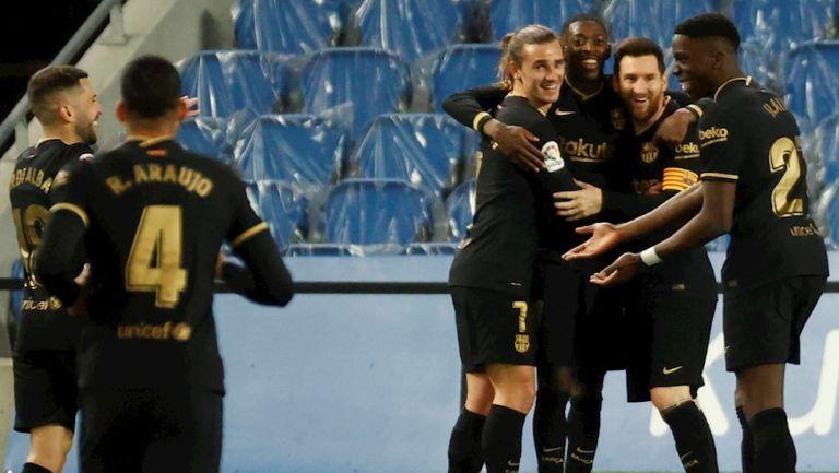 Barcelona goleó 1-6 a la Real Sociedad en San Sebastián
