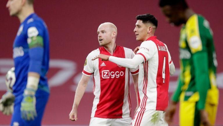 Álvarez marcó el tercero para el Ajax
