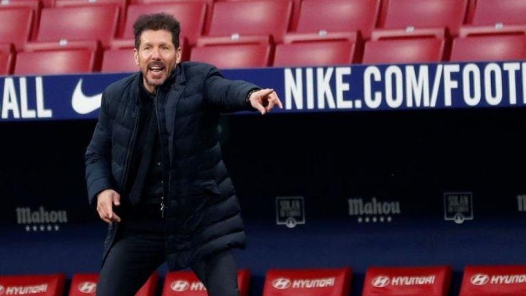 Simeone en partido con el Atlético