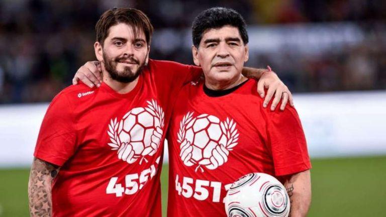 Maradona y su hijo