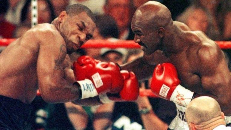 Tyson vs Holyfield en una pelea