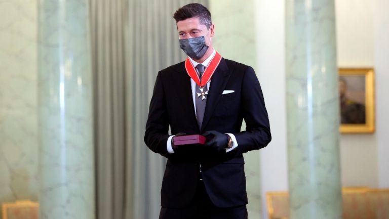 Robert Lewandowski: Recibió la Cruz de Comandante de la Orden de Polonia